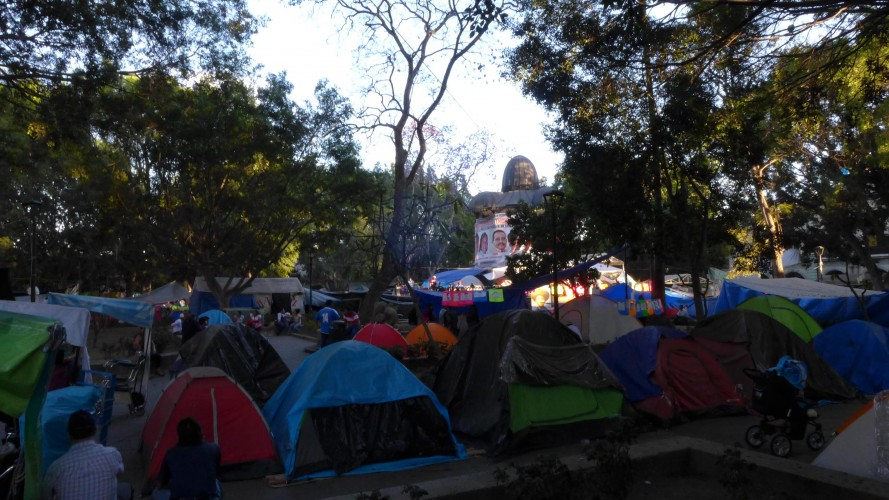 The never-ending Oaxaca protest camp